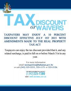 TAX WAIVERS & DISCOUNTS